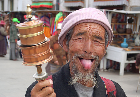 The ways people greet each other around the world tibet sticking out your tongue m4hsunfo