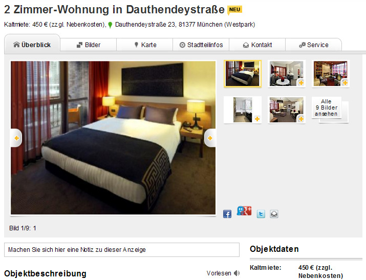 2 zimmer wohnung in dauthendeystra e dauthendeystra e 23 81377. Black Bedroom Furniture Sets. Home Design Ideas