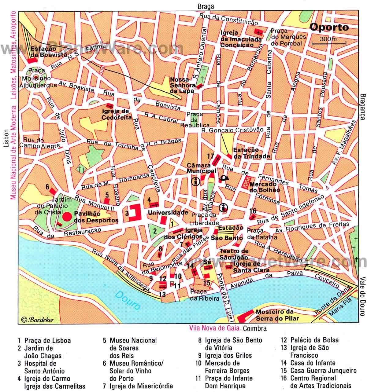 porto no mapa Mapas de Porto   Portugal | MapasBlog porto no mapa