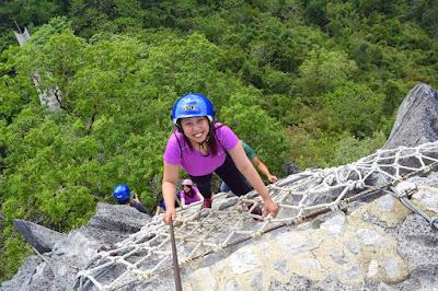 Girl Travel in Masungi Georeserve Trail