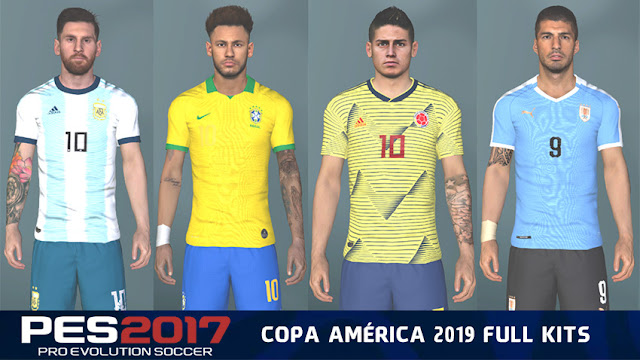 PES 2017 Copa America 2019 Mod (Kits, Ball, Logo) - Micano4u