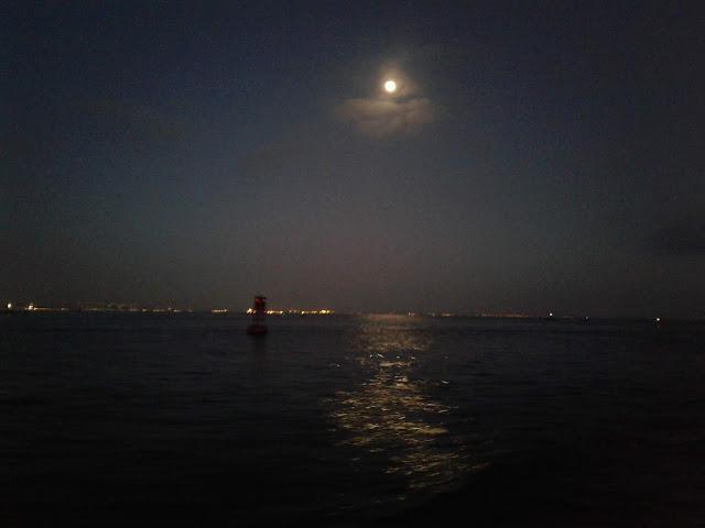 The moon over San Diego Bay