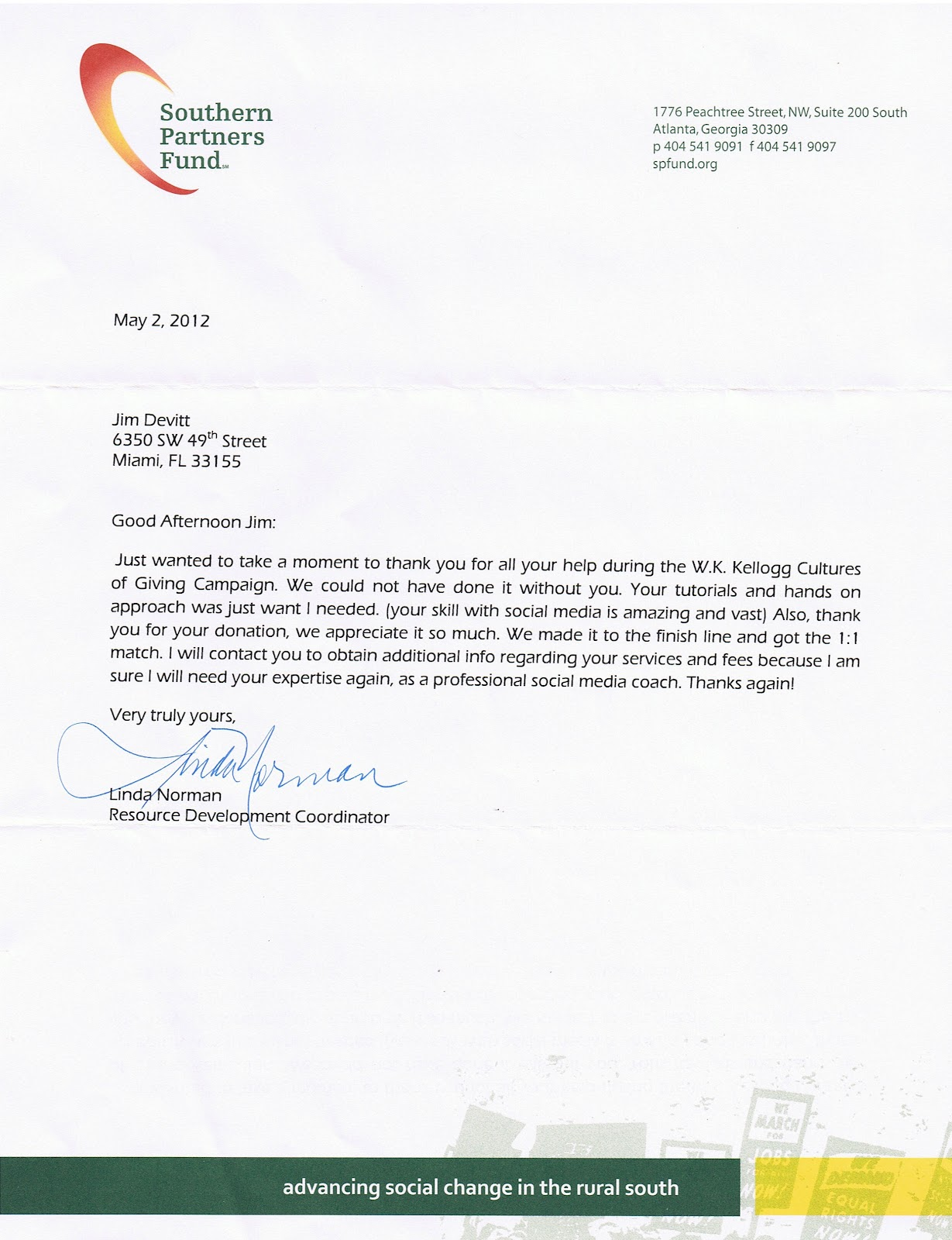 Jim Devitt Nice Reference Letter From A Client