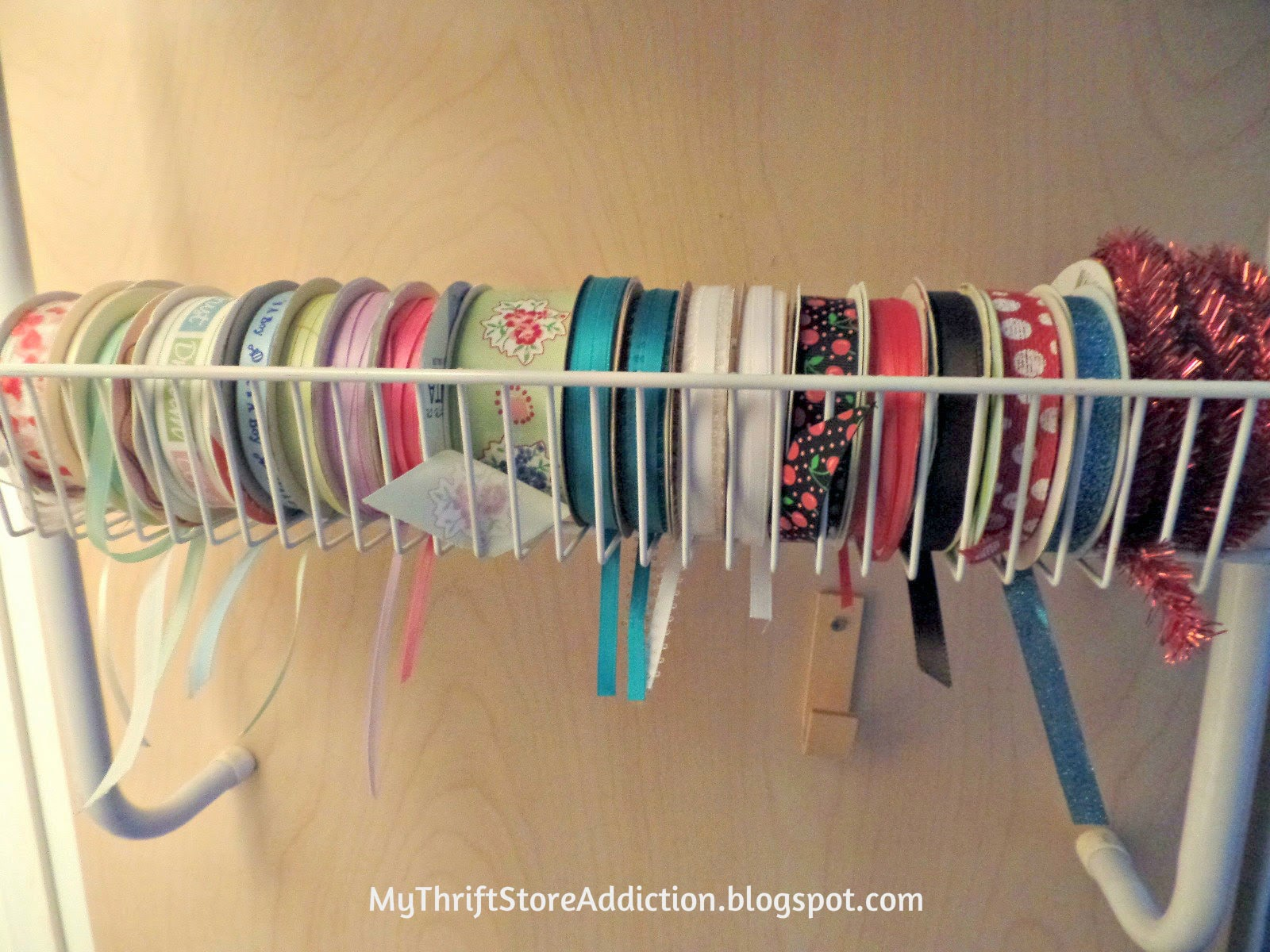 Repurposed ribbon storage