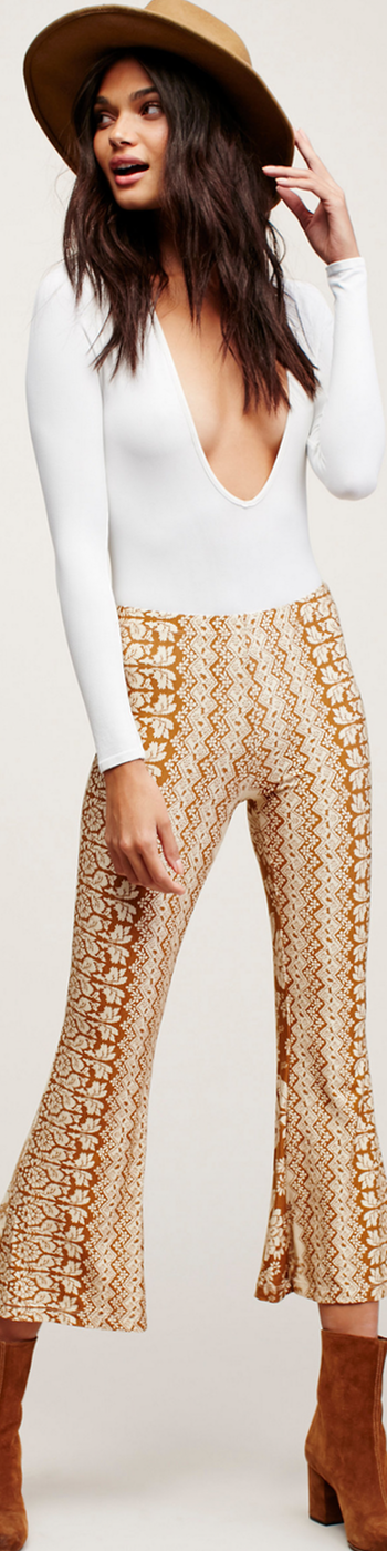 Free People Iris Printed Crop Flare