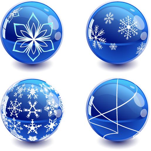 Bolas de Navidad azules - vector