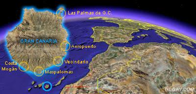 Ubicación de Gran Canaria