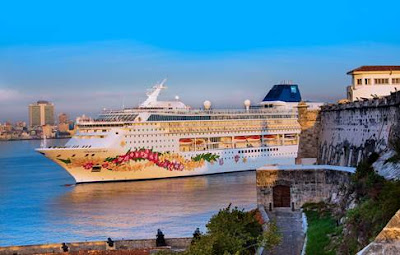 Norwegian Cruise Line's Norwegian Sky Makes Maiden Call at Havana Cuba/