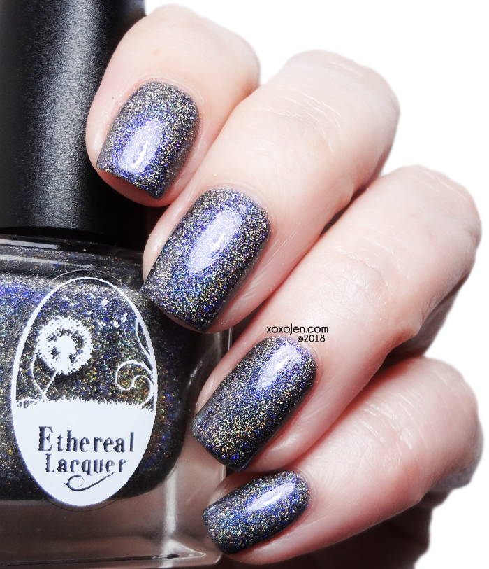 xoxoJen's swatch of Ethereal Lacquer Raindrops and Roses
