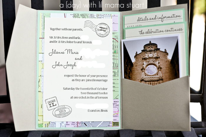 A With Lil Mama Stuart Travel Themed Wedding Invitations