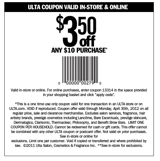 Printable Coupons For Ulta Salon Thick Quality Glass Coupon
