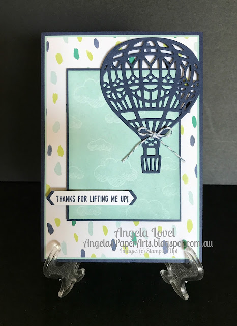 Stampin' Up! You Lift Me Up card by Angela Lovel, Angela's PaperArts