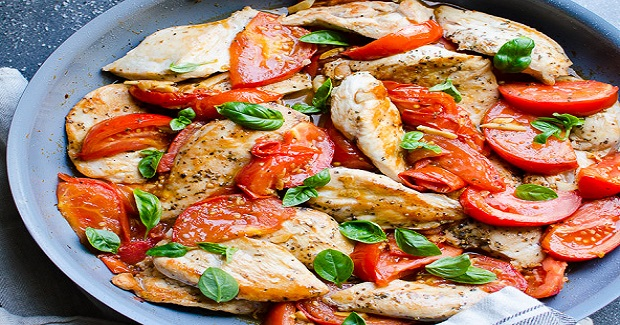 Chicken Breast With Tomatoes And Garlic Recipe