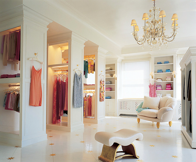 Mariah Carrey's all white closet on MTV cribs.