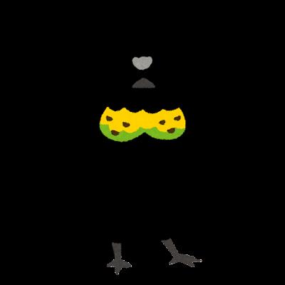 カンザシフウチョウのイラスト
