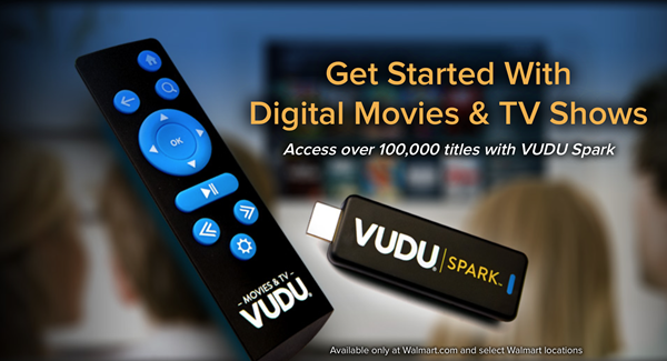 Walmart launches VUDU Spark, an HDMI streaming stick for $25
