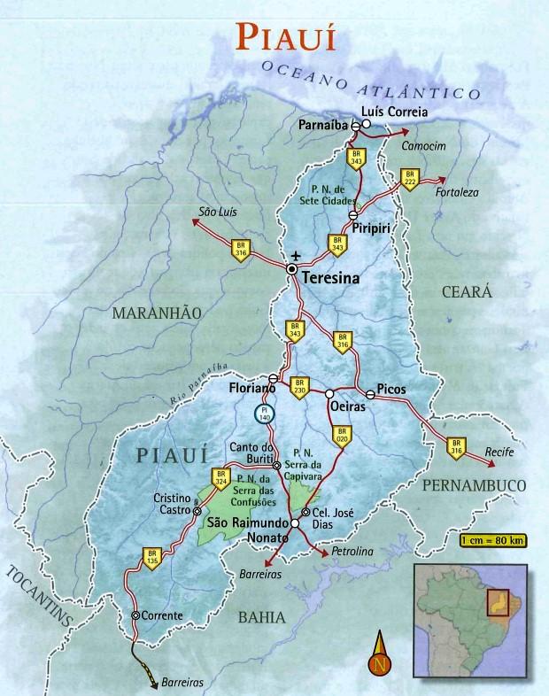 Piauí | Geografia, Cultura e Turismo do Estado do Piauí