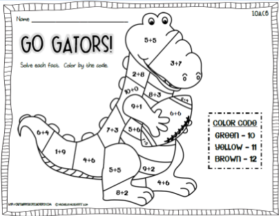 Our Sweet Success: Alligator Research Bundle {with Math