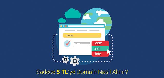 Sadece 5 ₺'ye Domain - Üstelik GoDaddy'den!