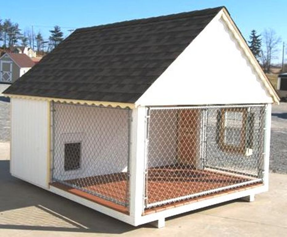 Heated dog kennels and runs home improvement for Building dog kennels for breeding