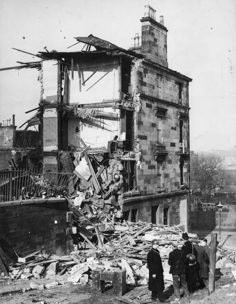 16 March 1941 worldwartwo.filminspector.com Clydeside blitz damage