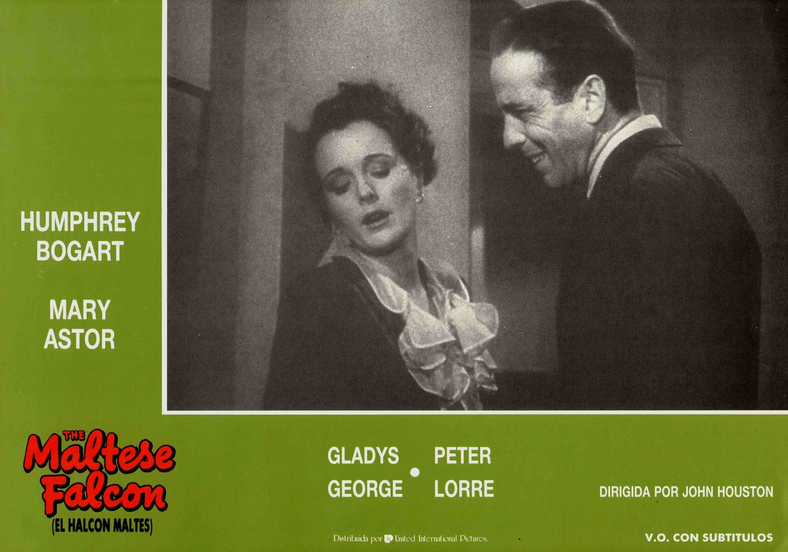 PHOTO LE FAUCON MALTAIS MARY ASTOR HUMPHREY BOGART /& JEROME COWAN