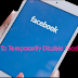 How Can I Disable My Facebook Account Temporarily