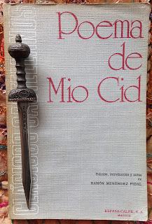 Portada del libro Poema de Mío Cid, de Ramón Menéndez Pidal