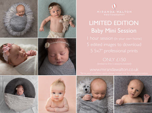 Limited Edition Baby Photography Mini Sessions in Northamptonshire