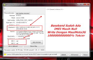 Lenovo A369i Imei Null Baseband Unknown