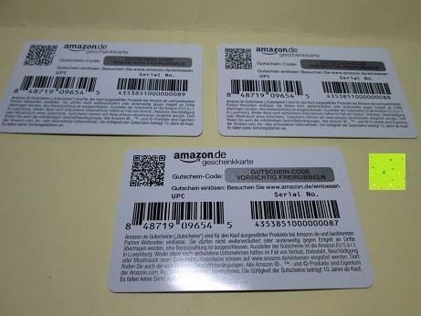 Amazon Geschenkkarte Code Prüfen