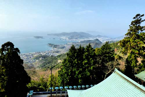Looking down on Tonosho from Nishinotaki Temple.