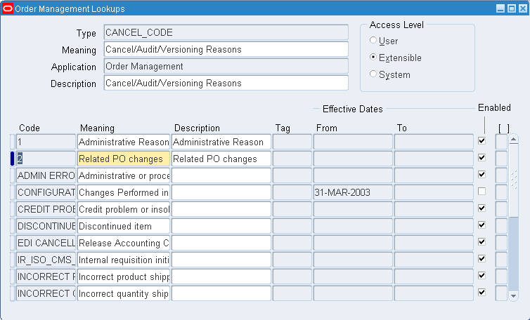 Order Management: Defining Quick Codes « Learn Oracle