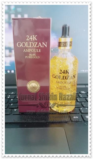 Serum wajah 24K Goldzan Ampoule