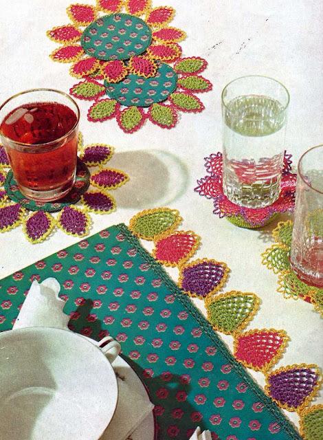 Patrón 1005 Set de Mesa a Crochet