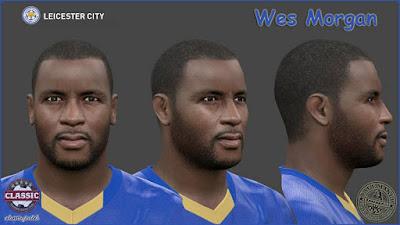 PES 2016 Wes Morgan (Leicester City) Face by SantanAji