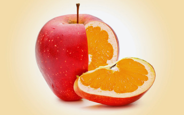 Orange in Apple 3D Digital Art Wallpaper