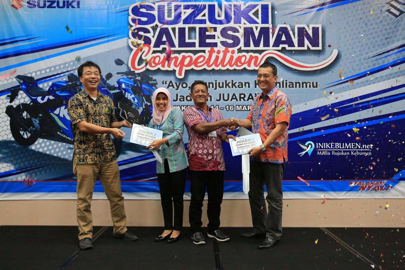 Susilo, Terpilih jadi Sales Motor Terbaik Suzuki Salesman Competition 2018