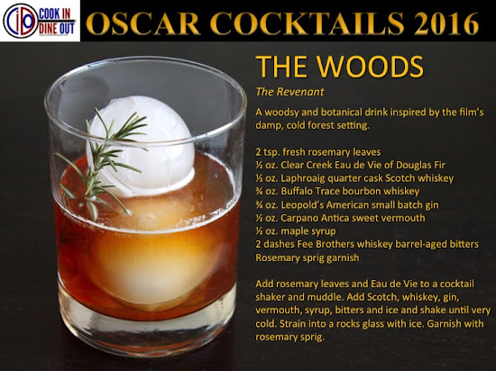 Oscar Cocktails 2016 The Revenant The Woods