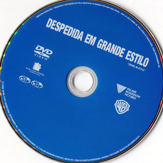 Label DVD Despedida em Grande Estilo