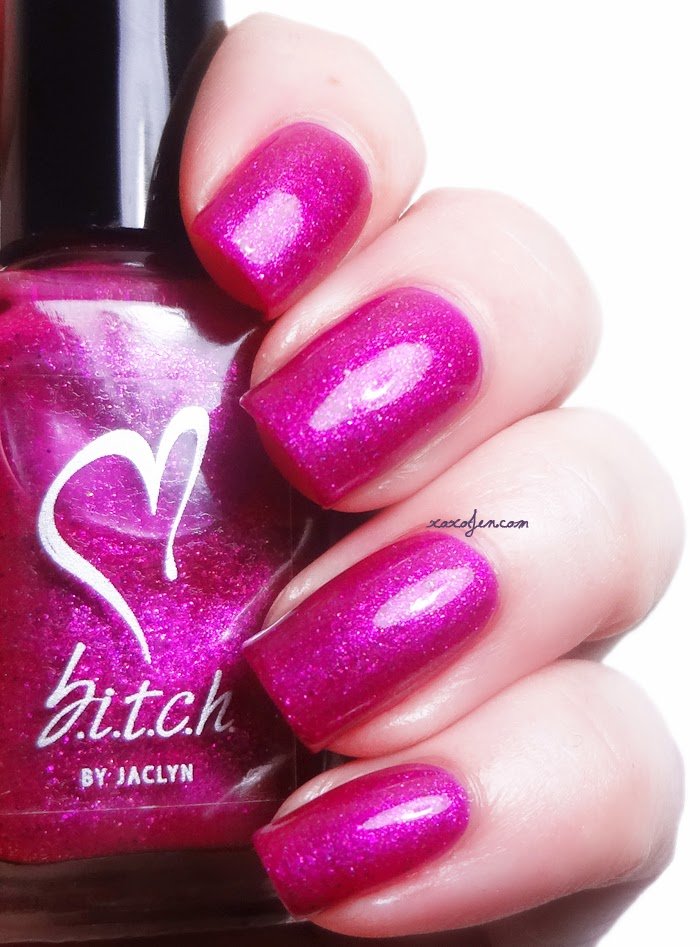 xoxoJen's swatch of b.i.t.c.h. by jaclyn Love & Lipstick