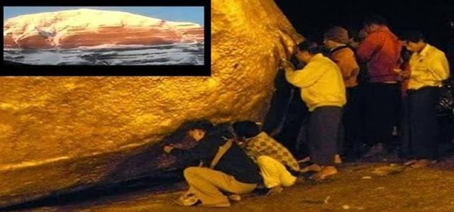 خروج جبل من الذهب بالعراق وهو احدي علامات يوم القيامه