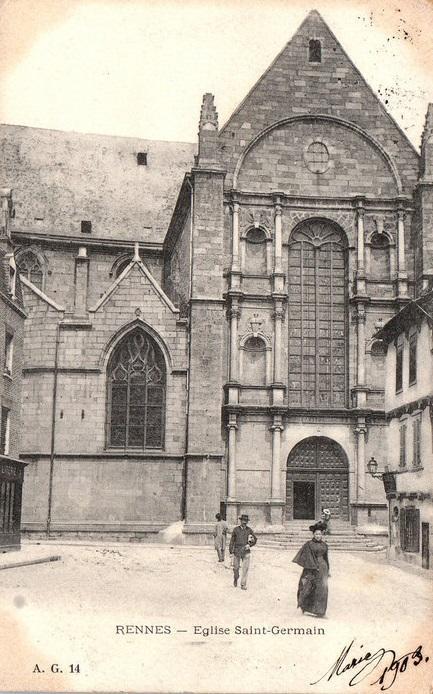 Le transept sud de l'Église Saint-Germain vers 1900