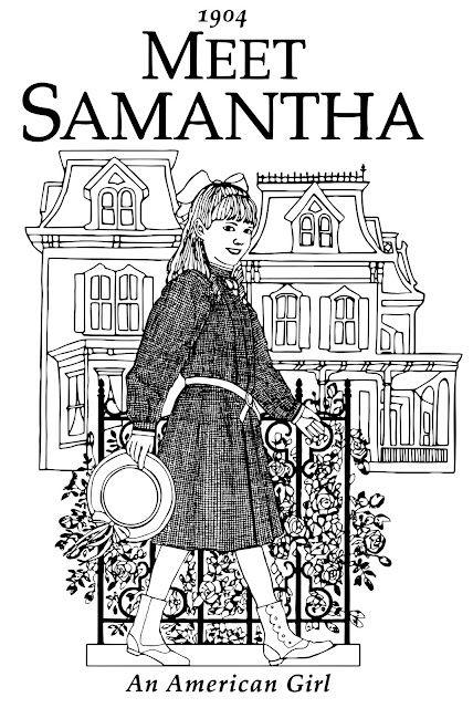 free American girl coloring pages Samantha Parkington