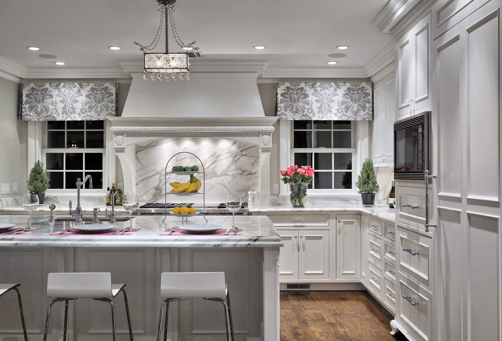 Grey Kitchens White Cabinets