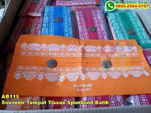 Grosir Souvenir Tempat Tissue Spunbond Batik