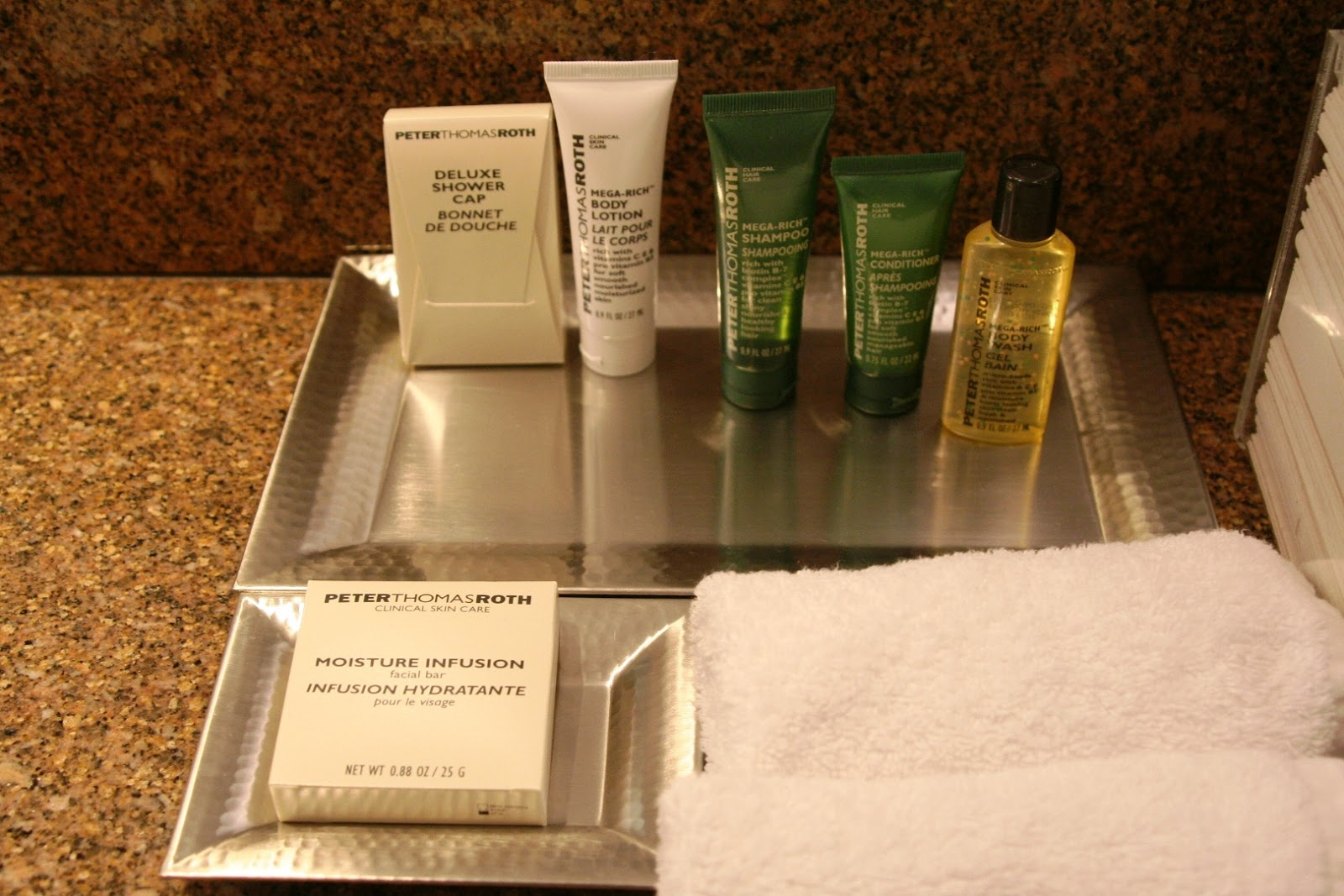 bathroom amenities Hilton Copenhagen Airport Kopenhaga