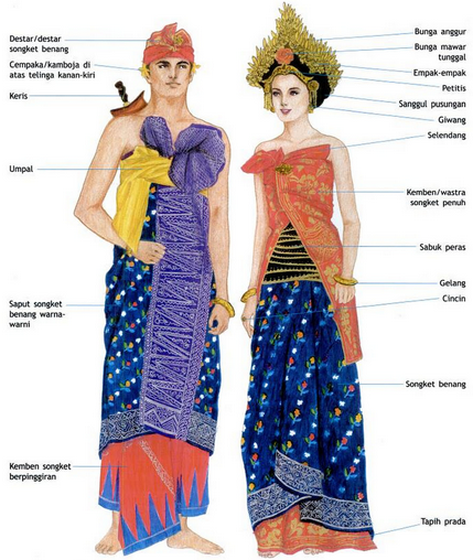 4 Baju Adat Bali Pria dan Wanita