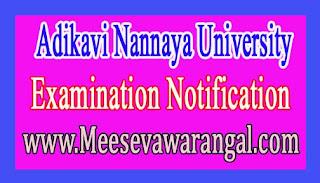 Adikavi Nannaya University Proforma for ratification of BP.Ed & DP.Ed Admission Notification
