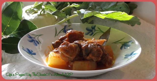 Immagine della ricetta dello Spezzatino di carne di pecora con cavolo rapa / Su spezzatino da pezza brabei cun cab'a conca